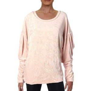 We the Free People Crushed Velvet pullover sweater